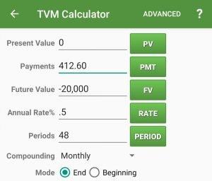 Time-value-of-money calculation